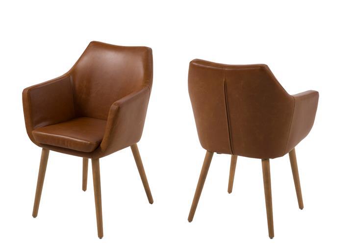 Vintage Stühle stuhl nora esszimmer armlehnenstuhl sessel in vintage lederlook
