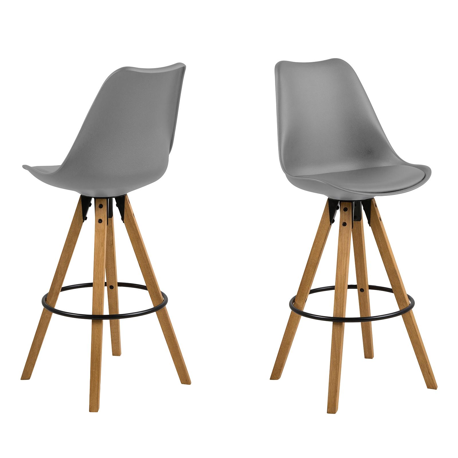 stuhl dima 2er set esszimmerstuhl oder barhocker bezug schwarz wei grau ebay. Black Bedroom Furniture Sets. Home Design Ideas