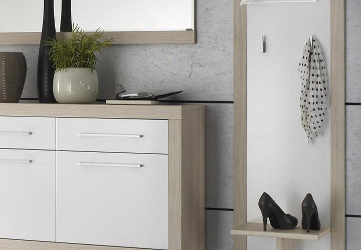 garderobenschrank crema dielenschrank in sonoma eiche. Black Bedroom Furniture Sets. Home Design Ideas
