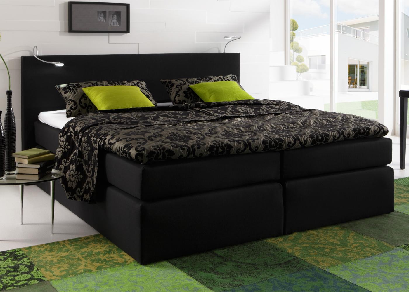 boxspringbett atlanta hotelbett doppelbett savanna federkern und topper ebay. Black Bedroom Furniture Sets. Home Design Ideas