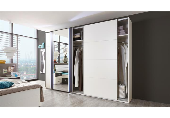 schwebet renschrank match 5 kleiderschrank spiegel wei lava mit beleuchtung 315 eur 439 95. Black Bedroom Furniture Sets. Home Design Ideas