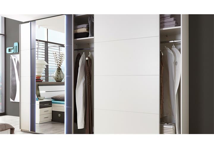 schwebet renschrank match 5 kleiderschrank spiegel wei. Black Bedroom Furniture Sets. Home Design Ideas