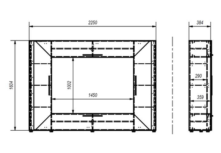 mediawand edge wei hochglanz mit ambiente beleuchtung. Black Bedroom Furniture Sets. Home Design Ideas