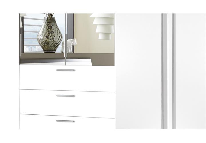 kleiderschrank neptun gro er schlafzimmerschrank wei mit spiegel 270 cm 6 t ren ebay. Black Bedroom Furniture Sets. Home Design Ideas