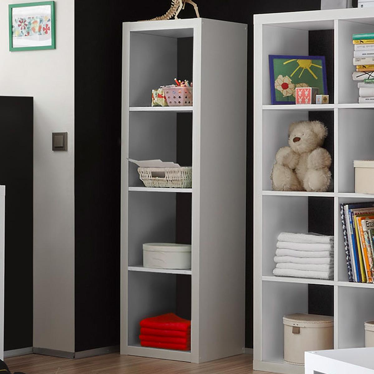 raumteiler style b cherregal b ro regal regalsystem in wei mit f cher auswahl ebay. Black Bedroom Furniture Sets. Home Design Ideas