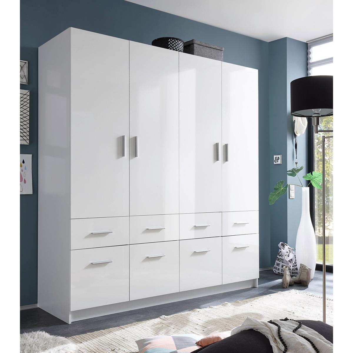 kleiderschrank hagen dreht renschrank schrank 2 trg 3 trg 4 trg wei hochglanz ebay. Black Bedroom Furniture Sets. Home Design Ideas