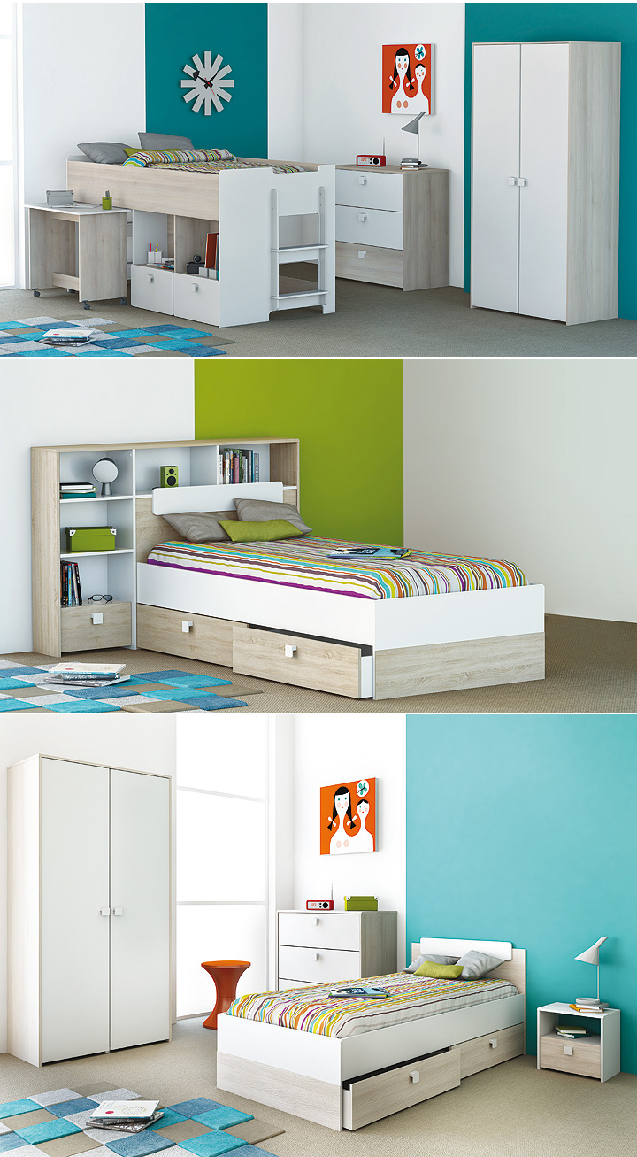 bett kombi game inkl bettumbau wei und akazie 90x190 cm. Black Bedroom Furniture Sets. Home Design Ideas