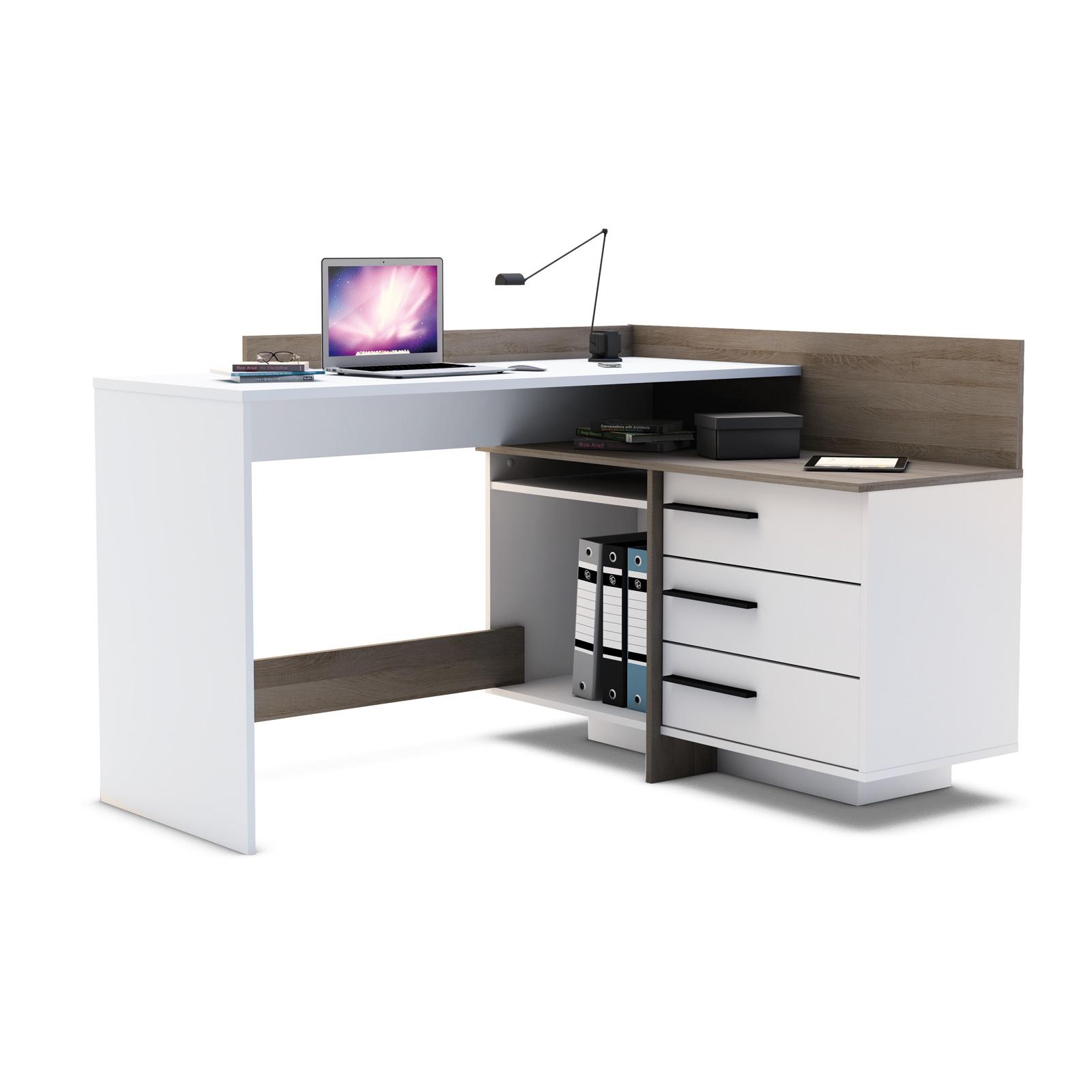 Eckschreibtisch holz weiß  toller Schreibtisch Thales - Eckschreibtisch | eBay
