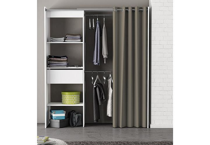 kleiderschrank chicago garderobe regal schrank perle wei. Black Bedroom Furniture Sets. Home Design Ideas
