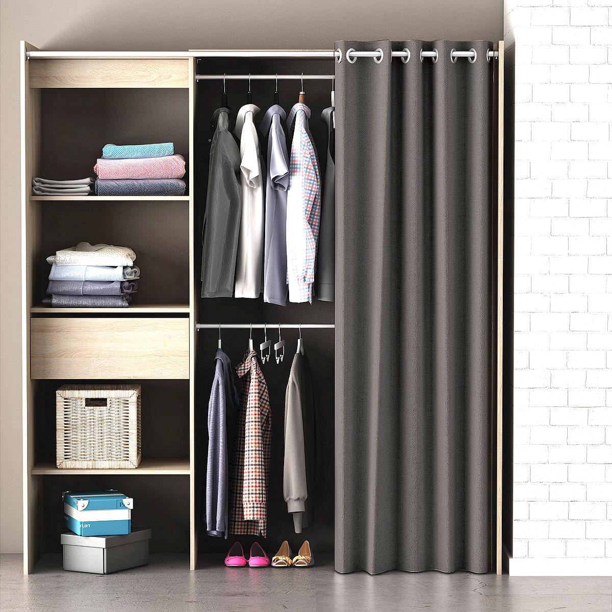kleiderschrank mit regal swalif. Black Bedroom Furniture Sets. Home Design Ideas