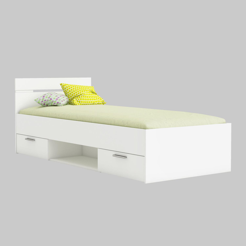 bett michigan jugendbett g stebett mit 2 schubk sten liegefl che 90x200 140x200 ebay. Black Bedroom Furniture Sets. Home Design Ideas