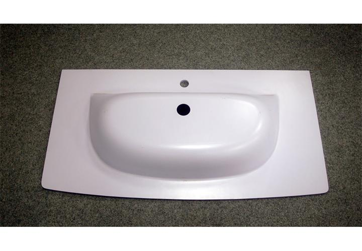 Details zu Glaskeramik Wachbecken Waschtisch SPIRIT 100 Badezimmer Becken