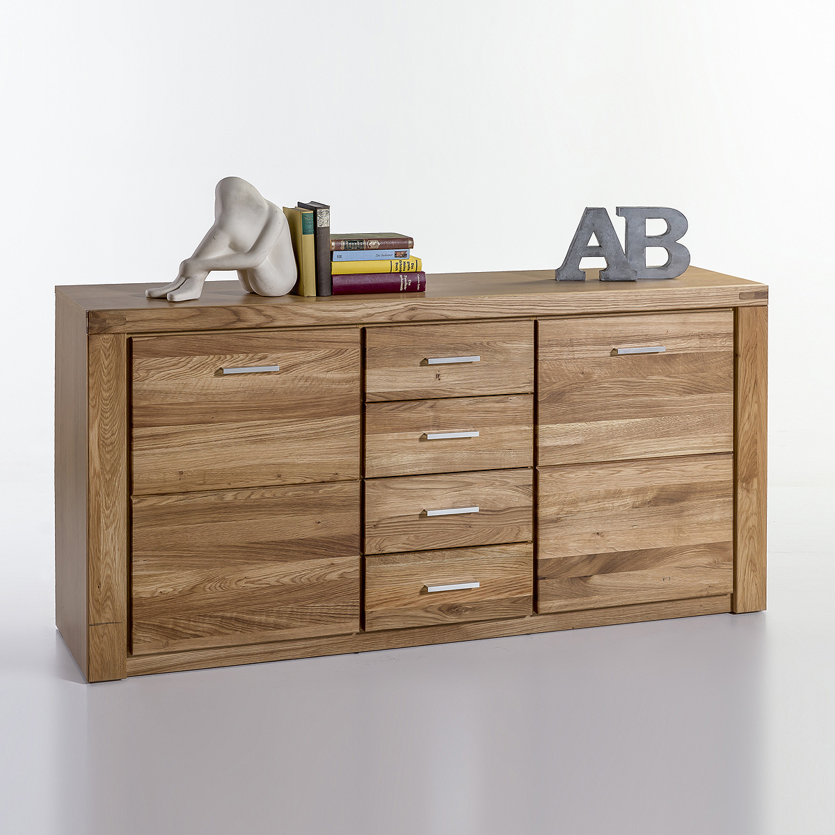 sideboard tabea kommode anrichte schrank in kernbuche oder wildeiche teil massiv ebay. Black Bedroom Furniture Sets. Home Design Ideas