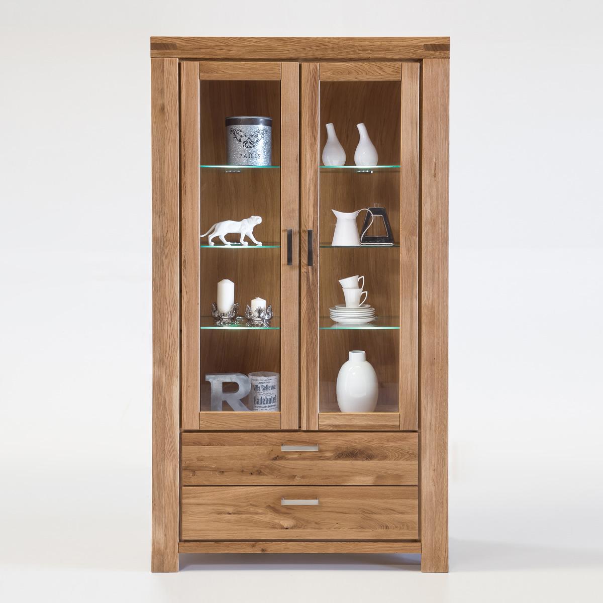 vitrine kira buffet schrank auswahl kernbuche wildeiche. Black Bedroom Furniture Sets. Home Design Ideas