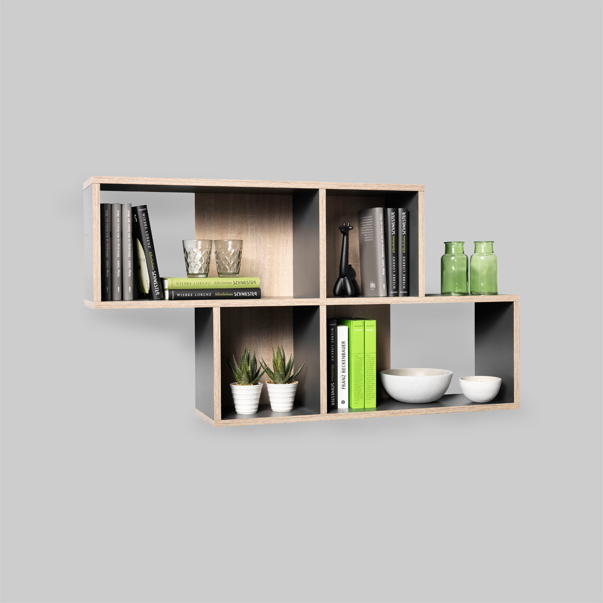 wandregal noras regal wandboard regalboard wei eiche sandeiche oder anthrazit ebay. Black Bedroom Furniture Sets. Home Design Ideas