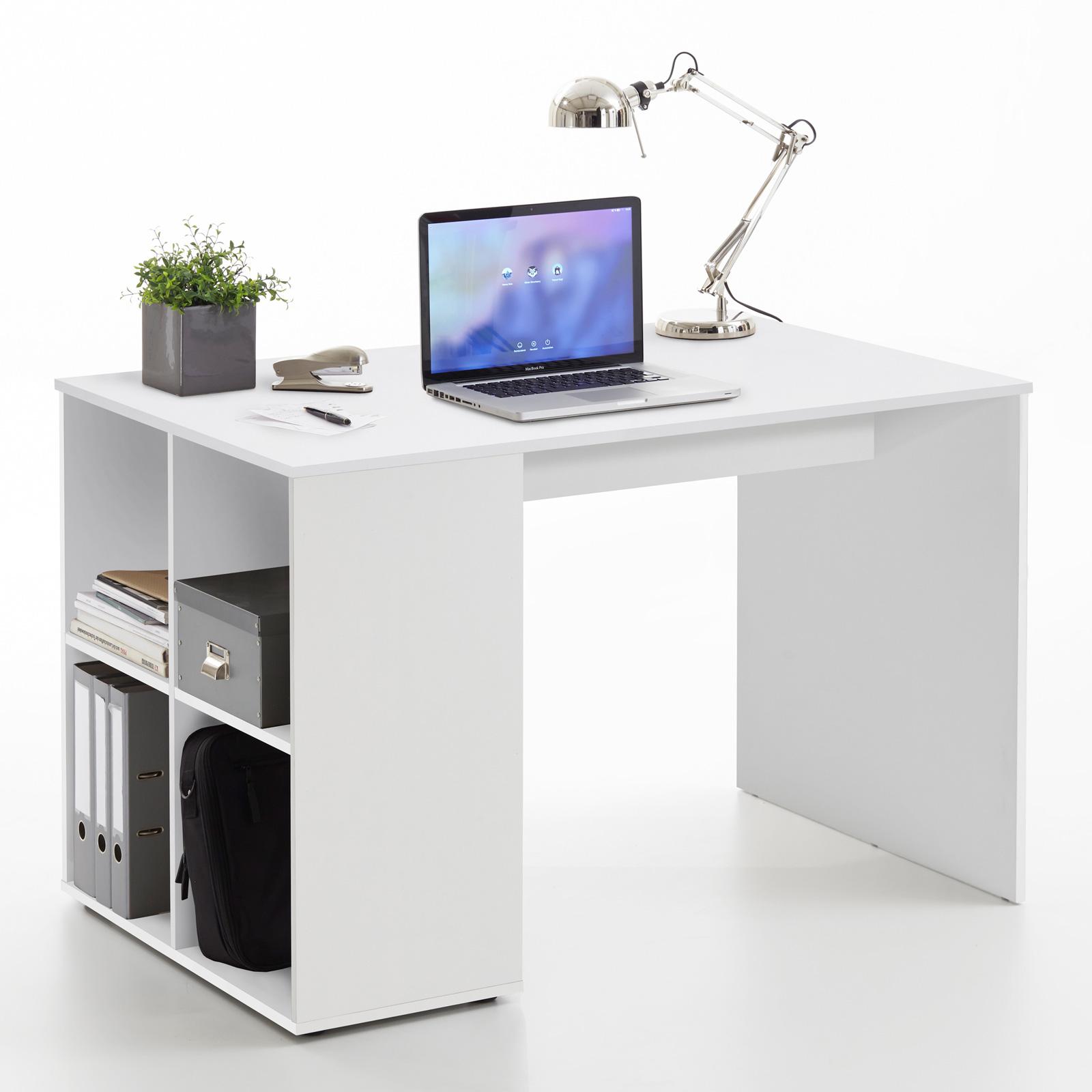 schreibtisch gent computertisch b rotisch pc tisch home office sandeiche wei ebay. Black Bedroom Furniture Sets. Home Design Ideas