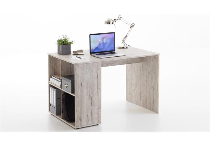 Schreibtisch Gent Computertisch Bürotisch Home Office in Sandeiche weiß Beton
