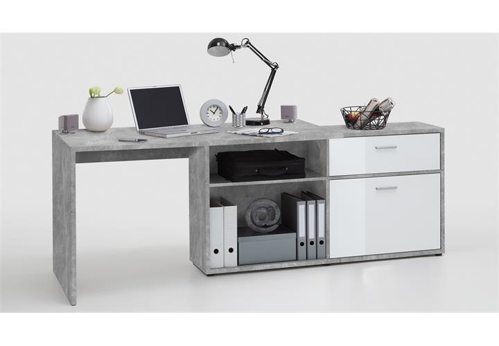Eck Schreibtisch Diego Computertisch Burotisch Winkeltisch Beton