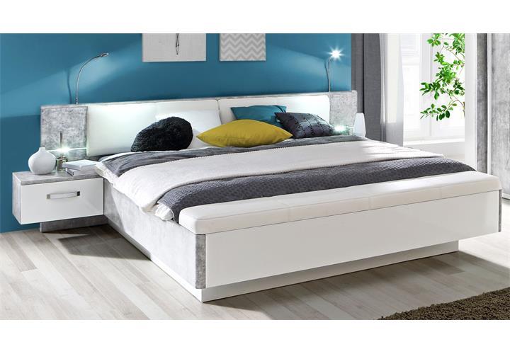 schlafzimmer 1 rondino komplett set kleiderschrank bettanlage inkl led ebay. Black Bedroom Furniture Sets. Home Design Ideas