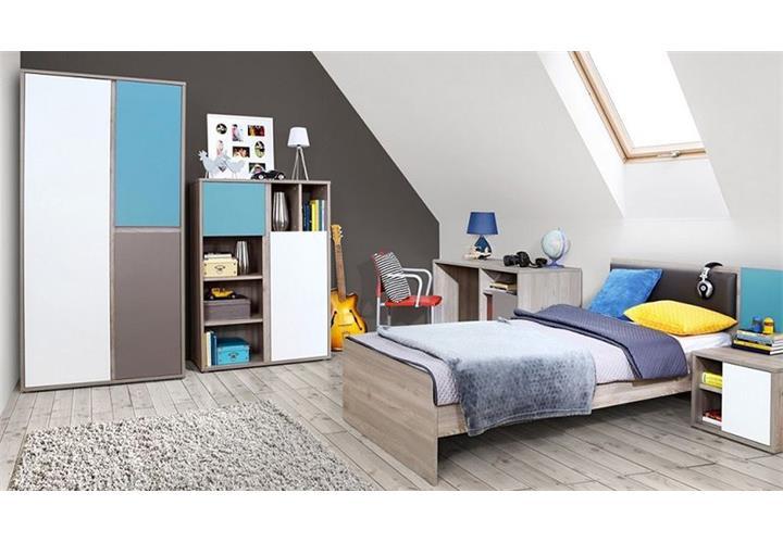 Jugendzimmer sirsey kinderzimmer 5 teilig eiche und blau grau wei eur 649 95 picclick de - Kinderzimmer blau grau ...