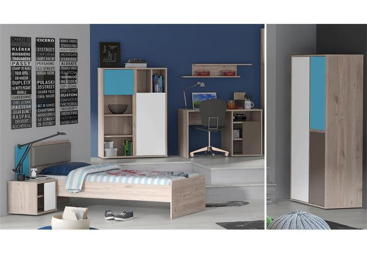 Jugendzimmer sirsey kinderzimmer 5 teilig eiche und blau grau wei eur 649 95 picclick de - Jugendzimmer grau weiay ...