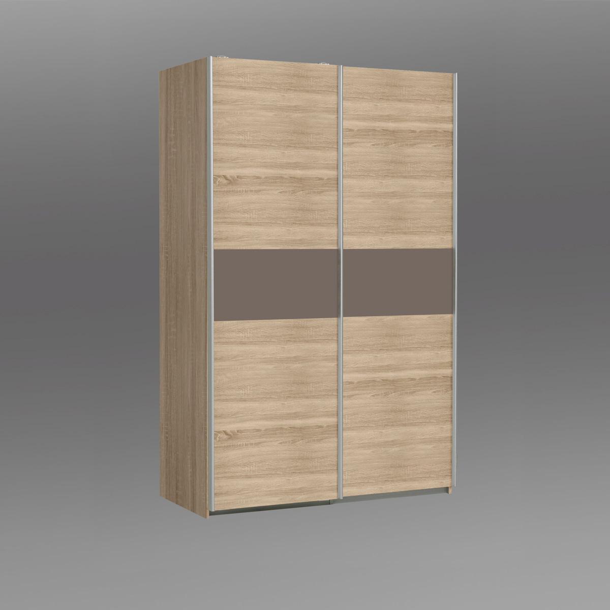 schwebet renschrank ohio kleiderschrank schrank sonoma eiche braun matt wei ebay. Black Bedroom Furniture Sets. Home Design Ideas