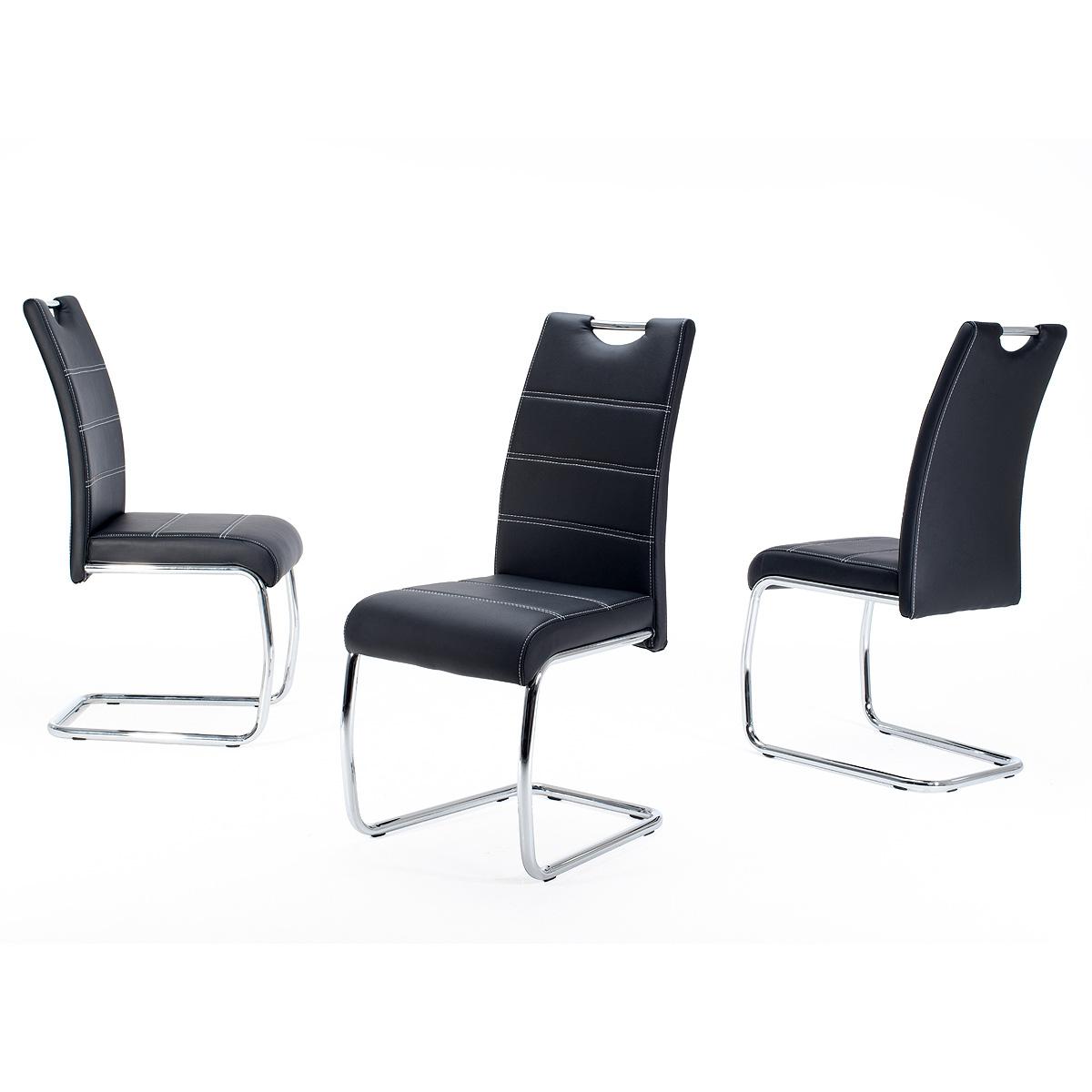 schwingstuhl flora 4er set freischwinger esszimmerstuhl stuhlset farbe w hlbar ebay. Black Bedroom Furniture Sets. Home Design Ideas