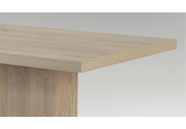 tisch saskia esszimmer s ulentisch esstisch in sonoma eiche oder wei 110x68cm ebay. Black Bedroom Furniture Sets. Home Design Ideas