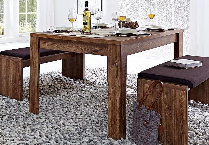 esstisch br ssel tisch esszimmertisch ausziehbar in akazie dunkel 160 240 cm 4250314518906 ebay. Black Bedroom Furniture Sets. Home Design Ideas