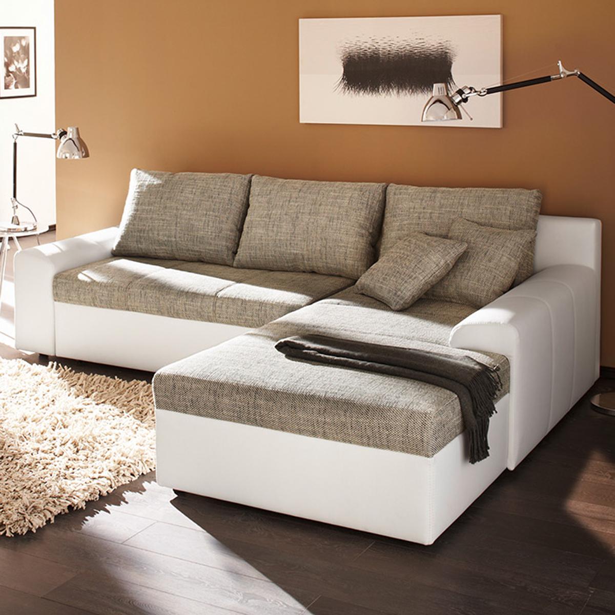 ecksofa snake wohnlandschaft sofa polster in webstoff mit g stebett bettkasten ebay. Black Bedroom Furniture Sets. Home Design Ideas