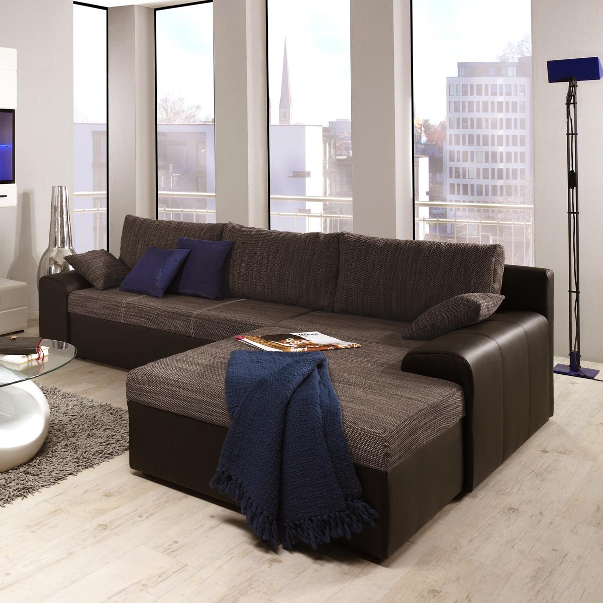 ecksofa snake wohnlandschaft sofa polster in webstoff mit. Black Bedroom Furniture Sets. Home Design Ideas