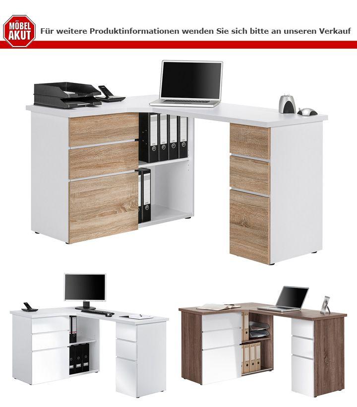 schreibtisch maja 9543 computertisch wei hochglanz. Black Bedroom Furniture Sets. Home Design Ideas