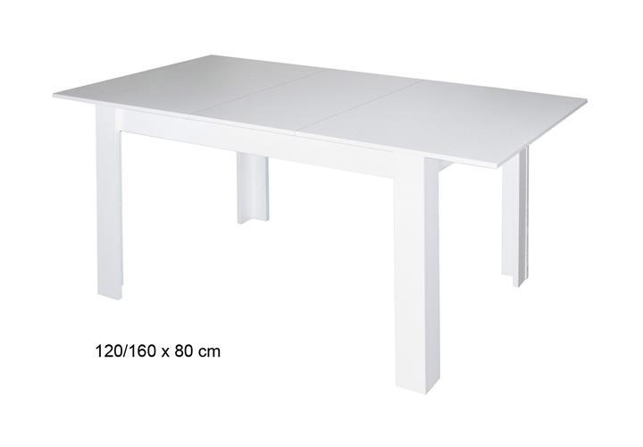 esstisch pit bull k chentisch in wei matt esszimmer tisch ausziehbar 80 bis 160 ebay. Black Bedroom Furniture Sets. Home Design Ideas