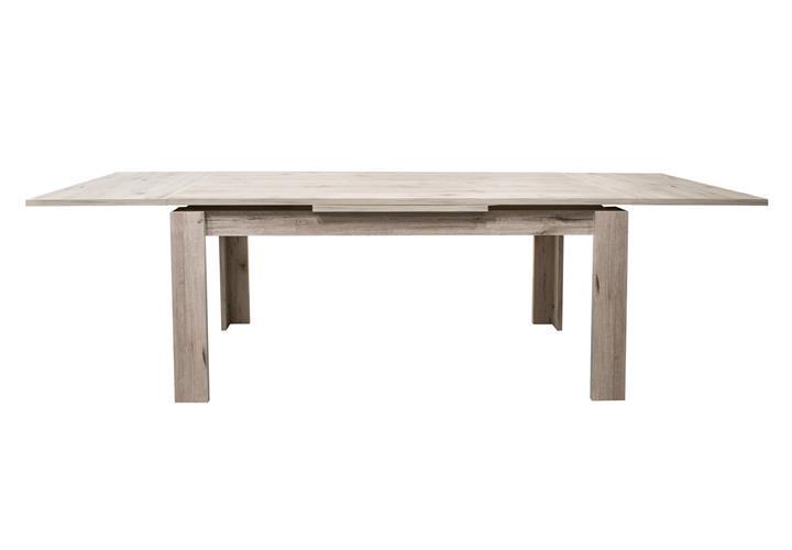 esstisch monsa esszimmertisch k che tisch ausziehbar wei lack oder sandeiche ebay. Black Bedroom Furniture Sets. Home Design Ideas