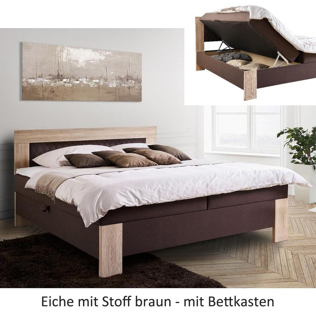boxspringbett kiel bett hotelbett farbauswahl 2 stofffarben 3 holzfarben 180 cm ebay. Black Bedroom Furniture Sets. Home Design Ideas