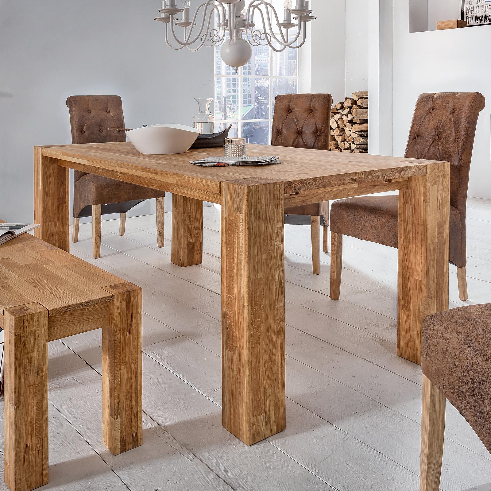 esstisch big oak esszimmertisch tisch in wildeiche massiv. Black Bedroom Furniture Sets. Home Design Ideas