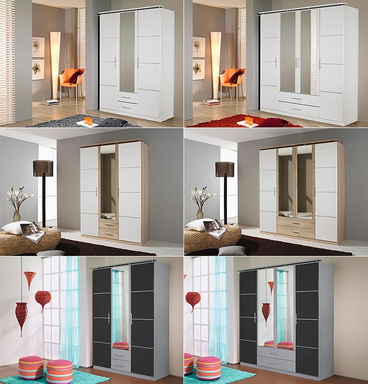 kleiderschrank micro wei inkl spiegel 181 cm. Black Bedroom Furniture Sets. Home Design Ideas