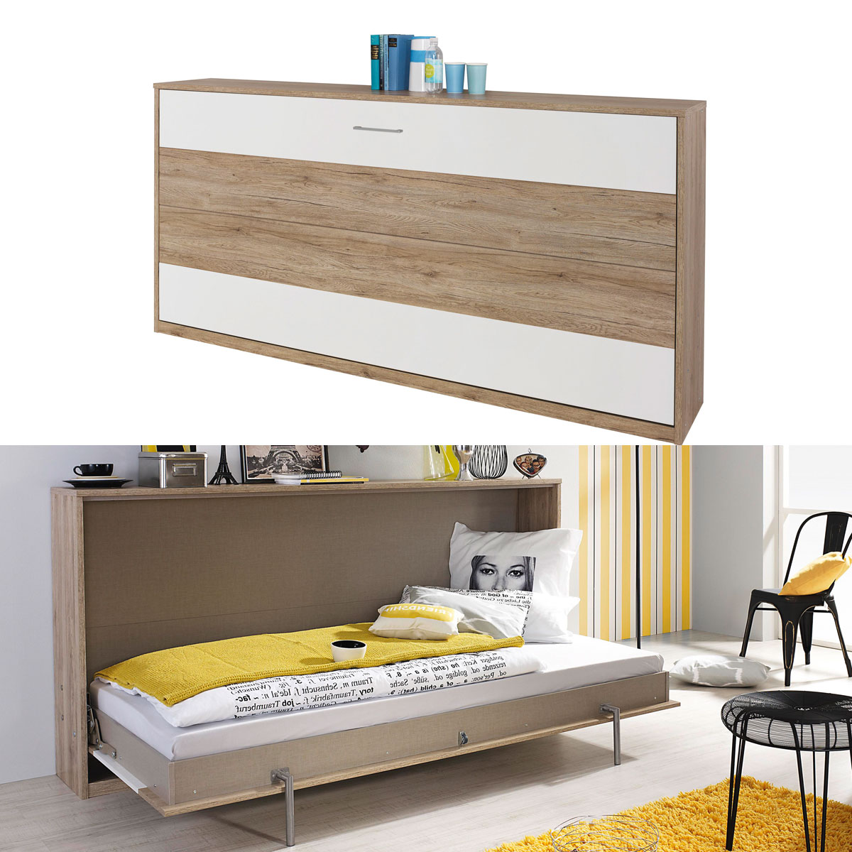 schrankbett albero 90x200cm 7 designs funktionsbett kinderbett klappbett ebay. Black Bedroom Furniture Sets. Home Design Ideas