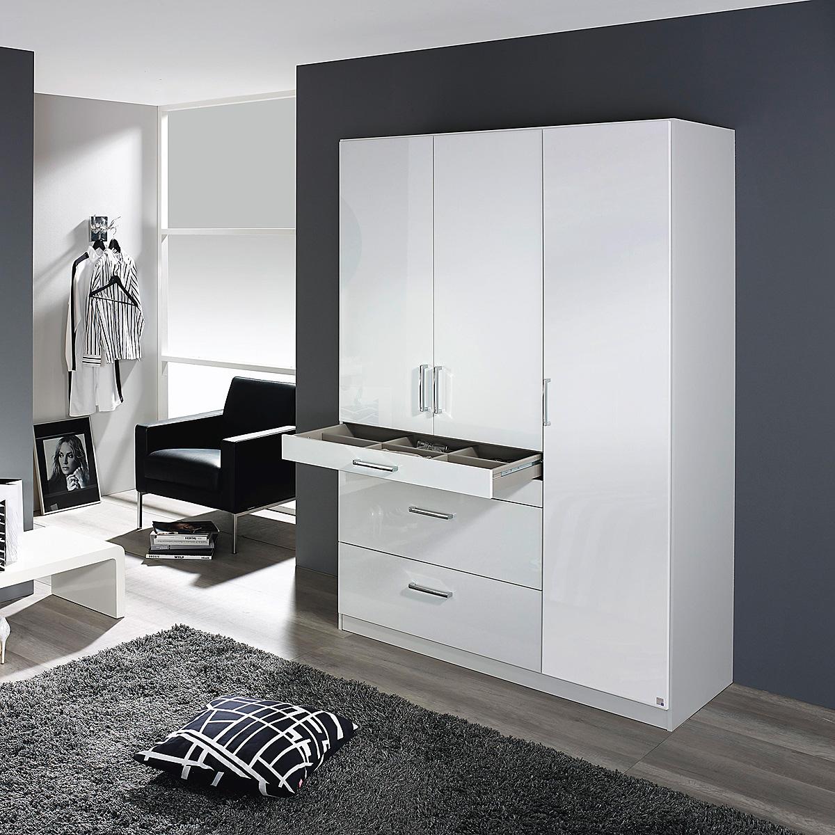 Kleiderschrank Homburg Schrank Schlafzimmerschrank in weiß ...