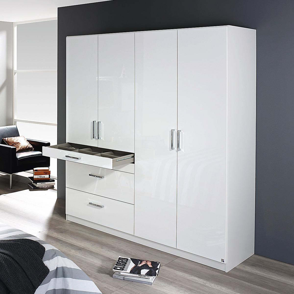 kleiderschrank homburg schrank schlafzimmerschrank in wei hochglanz auswahl ebay. Black Bedroom Furniture Sets. Home Design Ideas