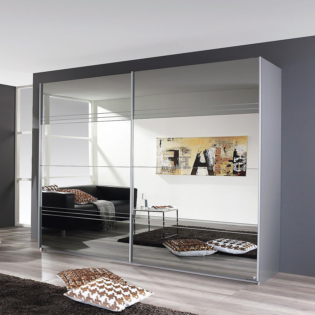 schwebet renschrank koblenz kleiderschrank in alu geb rstet spiegel auswahl ebay. Black Bedroom Furniture Sets. Home Design Ideas