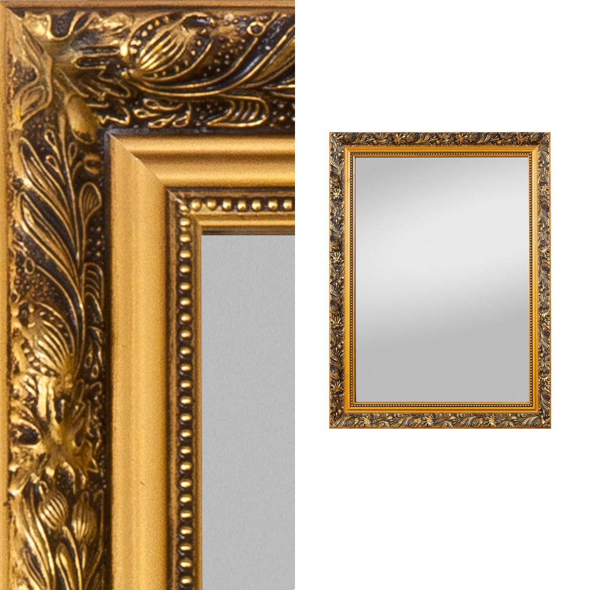 spiegel pius antiklook goldfarben oder silberfarben wandspiegel rahmenspiegel ebay. Black Bedroom Furniture Sets. Home Design Ideas