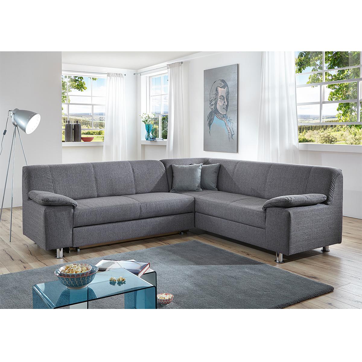 Beeindruckend Ecksofa Schlaffunktion Grau Ideen Von Ecksofa-alamo-wohnlandschaft-sofa-polstersofa-grau-mit-oder-
