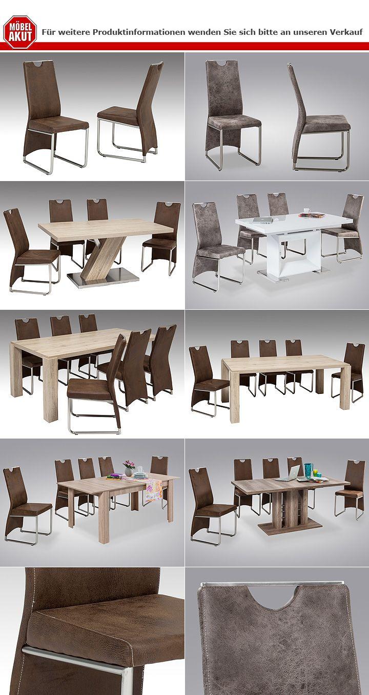 stuhl manu 4er set esszimmerstuhl in vintage hell grau. Black Bedroom Furniture Sets. Home Design Ideas