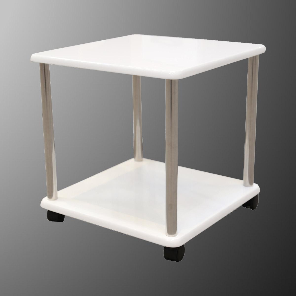regal beistelltisch kiki tisch beim bel ablage in wei. Black Bedroom Furniture Sets. Home Design Ideas