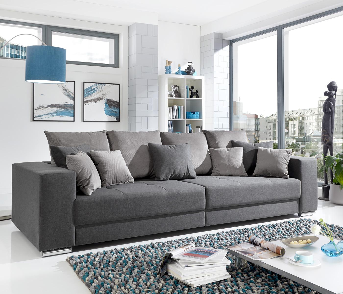 Bigsofa Adria Big Sofa Wohnzimmer XXL Couch Stoffausführung oder ...