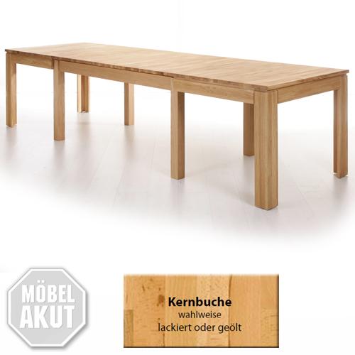 Esstisch Multi XL Massivholz Tisch mit Synchronauszug wahlweise ...