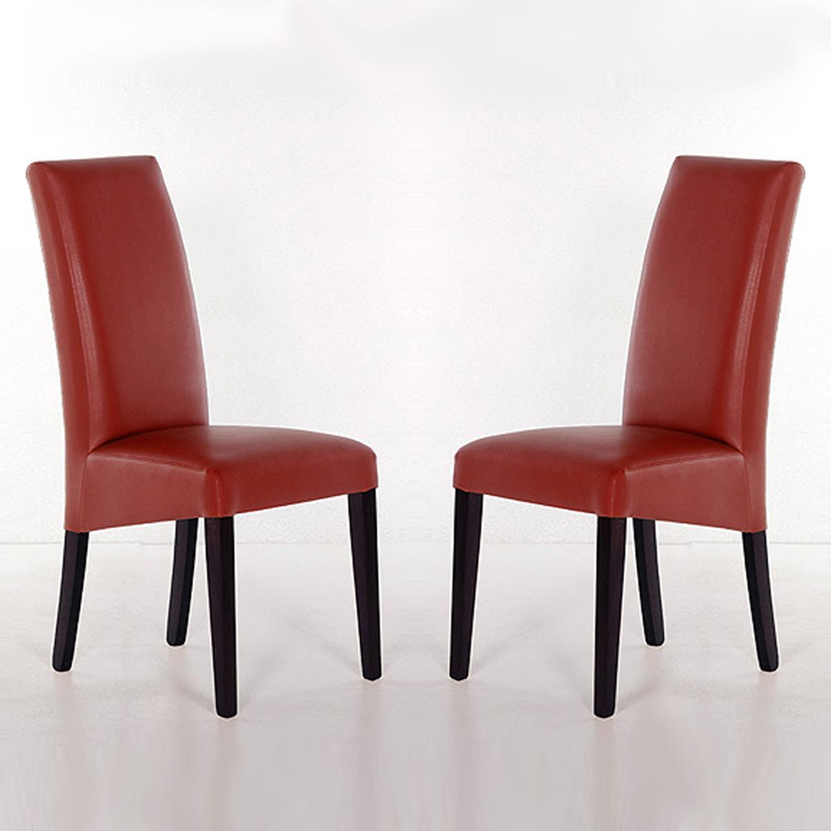 stuhl rudi 2er set esszimmerstuhl polsterstuhl lederlook gestell vollholz ebay. Black Bedroom Furniture Sets. Home Design Ideas