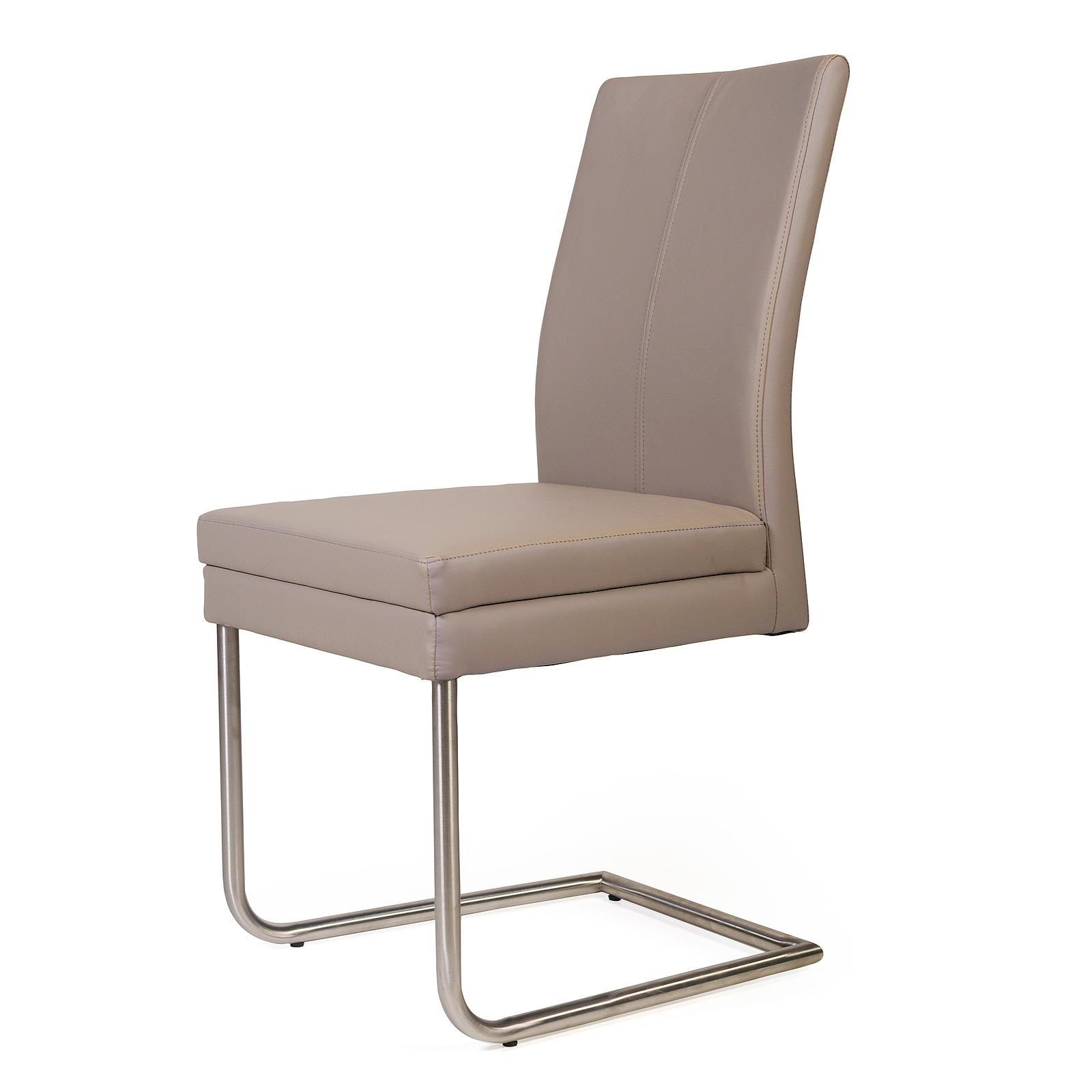 schwingstuhl goja stuhl freischwinger esszimmerstuhl 4 farben bezug farbauswahl ebay. Black Bedroom Furniture Sets. Home Design Ideas