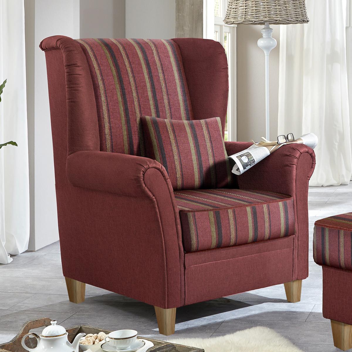 sessel f hr einzelsessel ohrensessel beige bordeaux anthrazit landhaus stil 92 ebay. Black Bedroom Furniture Sets. Home Design Ideas